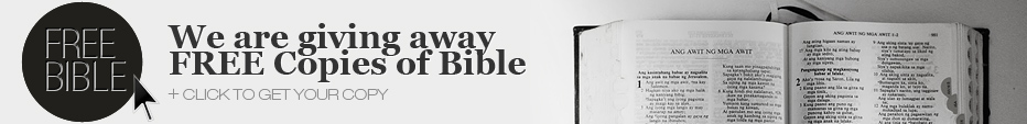We are giving away free copies of Bible